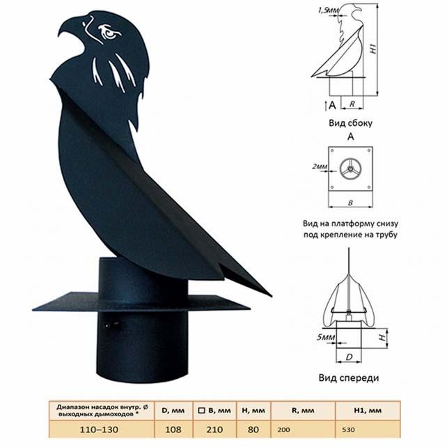 Флюгер в форме птицы