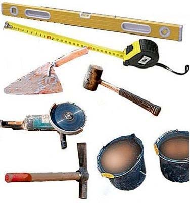 Инструмент для кладки камина